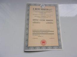 REMY MARTIN & Cie (cognac,charente) - Actions & Titres