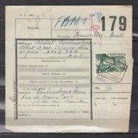 Vachtbrief Met Stempel S.N.C.F.B. Solre Sur Sambre - 1942-1951