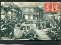 CPA - HENIN LIETARD - Société Des Mines De DOURGES - Ateliers Centraux (Ajustage), Animé - France