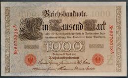 P44b Ro 45b DEU-40b  7 Chifres N°6070028A  *** UNC *** Lettre Z  1000 Mark 1910 - [ 2] 1871-1918 : German Empire