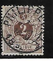Belgique N 44 Philippeville Très Belle Oblitération, Met Prachtige Afstempeling - 1884-1891 Léopold II