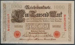 P44b Ro 45b DEU-40b  7 Chifres N°6070035A  *** UNC *** Lettre Z  1000 Mark 1910 - [ 2] 1871-1918 : German Empire