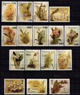 MBP-BK2-641 MINT ¤ GUYANA 16w MINT OUT OF SET- MINT - OVERPRINT ¤ FLOWERS OF THE WORLD - ORCHIDEE - FLEURS BLÜMEN - Orchideeën