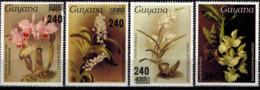 MBP-BK2-642 MINT ¤ GUYANA 4w MINT OUT OF SET- MINT - OVERPRINT ¤ FLOWERS OF THE WORLD - ORCHIDEE - FLEURS BLÜMEN - Orchidées