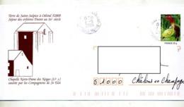 Pap Orchidee Cachet Vaux Illustré Chapelle Notre Dame Des Neiges - Prêts-à-poster:  Autres (1995-...)