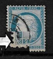 France N°60C Variété Deformation Du Coin Inf. Gauche. - 1871-1875 Ceres
