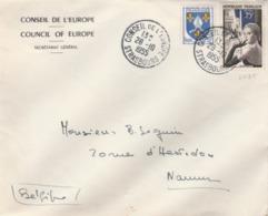 T. à D. Du Conseil De L'Europe à Strasbourg / 1020 Notamment Sur Env. De Cette Institution. (TTB) Poutr Namur. - Postmark Collection (Covers)