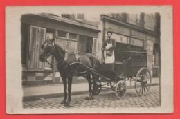 93 - Aubervilliers - Carte Photo Attelage Devant Le 3 Et 5 Rue Pantin - Aubervilliers
