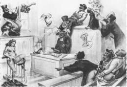 Photo Dessin Erotique Justice Tribunal Avocat Juge Gendarme - Collections