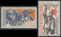 "Tschechoslowakei Czechoslovakia 1960 Mi 2223 /4 YT 1106 /7 SG 1180 /1 ** 40th Ann. Newspaper ""Rude Pravo"" + Press Day - Other"