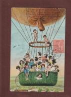 Cpa - Carte écrite En 1904 à ARGENTEUIL - Groupe D' Enfants Dans Un Ballon   -  Voir Les 2 Scannes - 1er Avril - Poisson D'avril