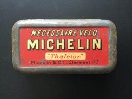 Boîte Métallique Ancienne Nécessaire Vélo Michelin Thaletor - Boîtes