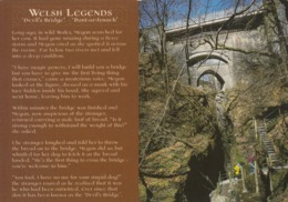 Postcard Welsh Legends The Story Of Devil's Bridge [ Folk Tale / Folklore ] My Ref  B23828 - Folklore