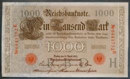 P44 Ro 45c DEU-40c  7 Chifres N°6441752E  *** AUNC *** Lettre H  1000 Mark 1910 - [ 2] 1871-1918 : German Empire