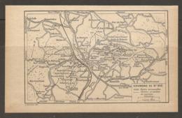 CARTE PLAN 1928 - ENVIRONS DE St DIE ROUTES CARROSSABLES CHEMINS ET SENTIERS DE TOURISTES - Topographical Maps