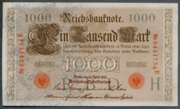 P44 Ro 45c DEU-40c  7 Chifres N°6441754E  *** AUNC *** Lettre H  1000 Mark 1910 - [ 2] 1871-1918 : German Empire