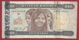 Erythrée 10 Nakfa Du 24/05/1997  Usagé  (144) - Eritrea