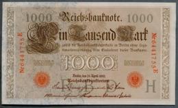 P44 Ro 45c DEU-40c  7 Chifres N°6441755E  *** AUNC *** Lettre H  1000 Mark 1910 - [ 2] 1871-1918 : German Empire