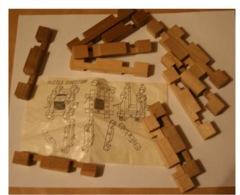PUZZLE EN BOIS 12 Pièces (chaque Pièces : 5,5 Cm) (sans La Boite D'origine) - Puzzles
