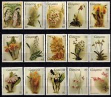 MBP-BK2-646 MINT ¤ GUYANA 15w MINT OUT OF SET- MINT - ¤ FLOWERS OF THE WORLD - ORCHIDEE - FLEURS BLÜMEN - Orchids
