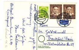 Nr. 173 Paar MIF Postkarte Aus Ludwigsburg 1954 - BRD