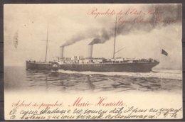 Entier Postal-Stationary CP  A Bord Du Paquebot De L'état Belge Marie-Henriette,ligne Ostende-Douvres, Circulé 1906 - Paquebote