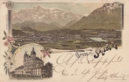 Litho Gruss Aus Salzburg Gelaufen 8.4.00 - Salzburg Stadt