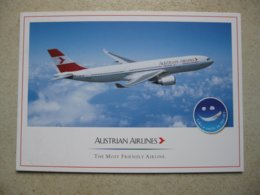 Austrian Airlines A 330, Airline Issued Card - 1946-....: Era Moderna