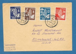 1951 LEIPZIG TO U.S.A. DDR DEUTSCHE DEMOKRATISCHE REPUBLIK - [6] Democratic Republic