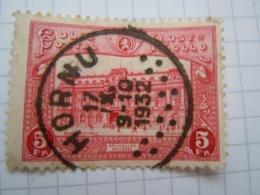 Tr 172  Cachet Rond A étoiles Hornu - 1915-1921