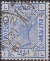 England  .   SG   157  .   Pl. 23  ( 2 Scans ) .  Wmk  Imp Crown      .  O   .    Cancelled .   /   .   Gebruikt - 1840-1901 (Victoria)