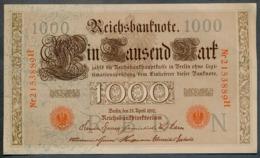 P44 Ro 45c DEU-40c  7 Chifres N°2153889  *** AUNC *** Lettre N  1000 Mark 1910 - [ 2] 1871-1918 : German Empire