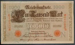 P44 Ro 45c DEU-40c  7 Chifres N°2153890  *** AUNC *** Lettre N  1000 Mark 1910 - [ 2] 1871-1918 : German Empire