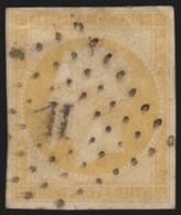 N°13Aa, Napoléon 10c JAUNE-CITRON, Oblitéré Losange - B/TB - COTE 85 € - 1853-1860 Napoléon III