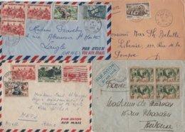 Dahomey - Lot De 4 Lettres - Lettres & Documents