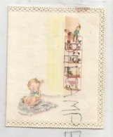 Mignonnette De Vœux. Bébé à Ruban Bleu. Étagère De Jouets. Emmanuel Tromme Né Le 16/06/1961 - Naissance & Baptême