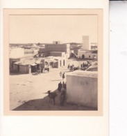 TOZEUR TUNISIE Ambiance De Rue 1923. Photo Amateur Format Environ 5,5 Cm X 5 Cm - Orte