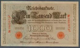 P44 Ro 45c DEU-40c  7 Chifres N°3863972J  *** AUNC *** Lettre Q  1000 Mark 1910 - [ 2] 1871-1918 : German Empire