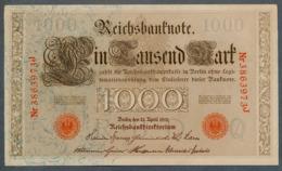 P44 Ro 45c DEU-40c  7 Chifres N°3863973J  *** AUNC *** Lettre Q  1000 Mark 1910 - [ 2] 1871-1918 : German Empire