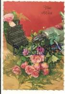 Vive St Eloi. Foreuse, Mèches Et Roses Roses. JC - Fêtes - Voeux