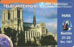 France: SEPATel - TélécarteExpo Paris 1997, Notre Dame (Puzzle 2) - Frankreich