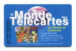 Telecarte Prépayée F  °_ Sepa Téléphonie-Le Monde Des Télécartes-2 Mn - 500 Exemplaires-1997- R/V 4150 ° LUXE - France