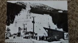 CPSM CORRENCON EN VERCORS ISERE LE TELESIEGE ALT 1860 M LE DEPART ED CELLARD 1966 ? AUTO VOITURE ARONDE ? SKIEURS - France
