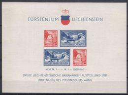 Liechtenstein 1936 Mi#Block 2 Mint Hinged - Unused Stamps