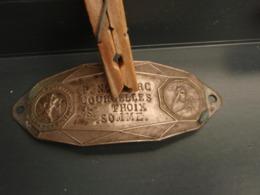 Belle Ancienne Plaque De Vélo COURCELLES-SOUS-THOIX - Unclassified
