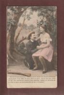 Cpa - Carte écrite En 1904  -  Couple Amoureux  - Voir Les 2 Scannes - Couples
