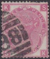 England  .   SG   103  .  Pl. 10  ( 2 Scans ) .  Wmk Spray Of Rose   .  O   .    Cancelled .   /   .   Gebruikt - Oblitérés
