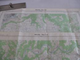 MILLAU (12) LOT De 2 CARTES  IGN Au 1/25000 - Feuille 1/2 Et 3/4 - Détails Voir Les Scans - Topographical Maps