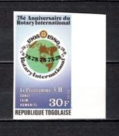 TOGO N° 975    NON DENTELE  NEUF SANS CHARNIERE COTE  ? €  ROTARY INTERNETIONAL - Togo (1960-...)
