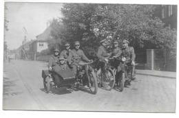 Soldats Armée Belge Moto Sidecar  Photo Carte - Persone Anonimi